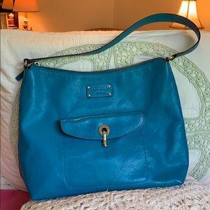 Kate Spade Vibrant Turquoise Hobo/Shoulder Bag